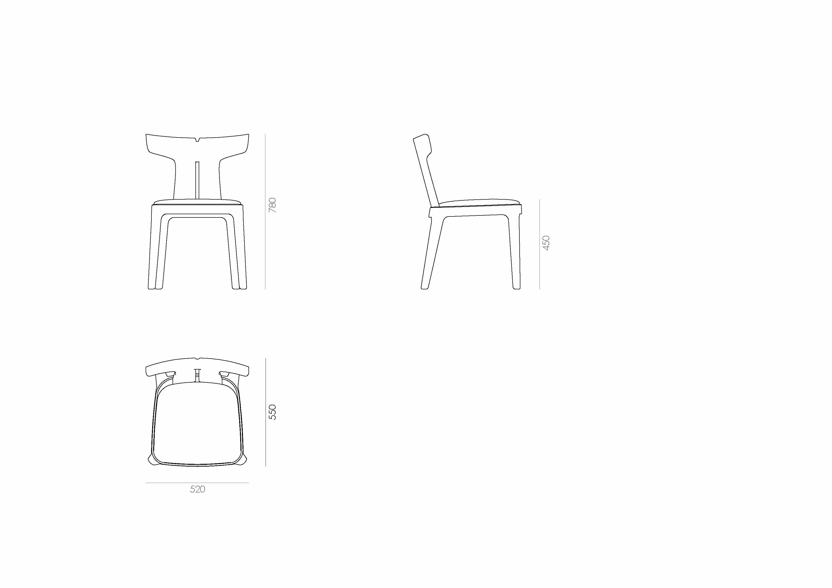 detail Bale Dining Chair